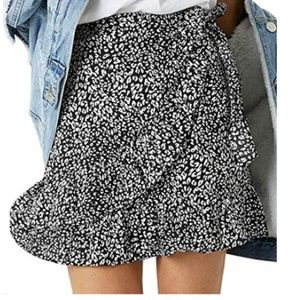 High Waist Swing Mini Skirt